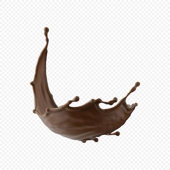 Шоколадное молоко всплеск изолированные