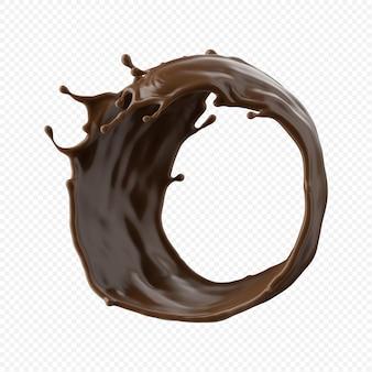 Chocolate milk splash isolated