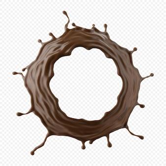 초콜릿 우유 스플래시 절연