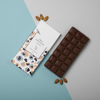 초콜릿 포장 모형 무료 PSD 파일