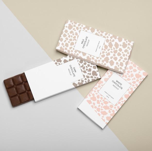 Макет упаковки шоколада