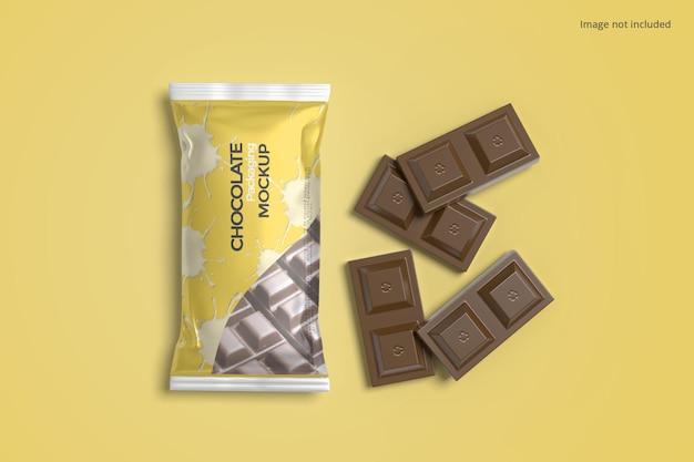 Chocolate packaging mockup
