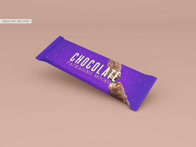 チョコレート包装のモックアップ
