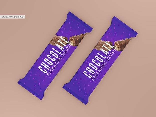 チョコレート包装のモックアップ 無料 Psd