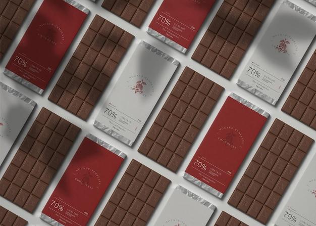チョコレート包装モックアップ