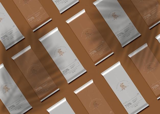 Мокап упаковки шоколада