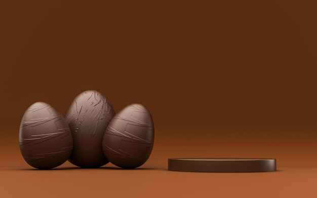 Chocolate podium for product composition