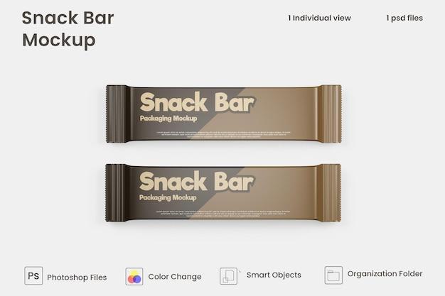 Chocolate snack bar packaging mockup premium psd