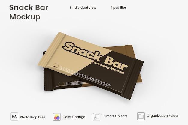 チョコレートスナックバー包装モックアップ