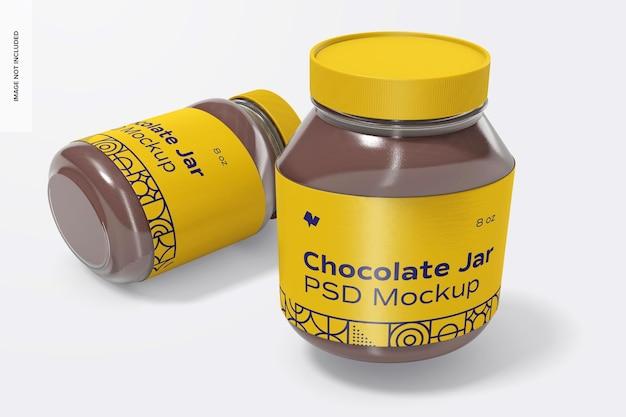 초콜릿 스프레드 항아리 모형, 떨어 뜨림