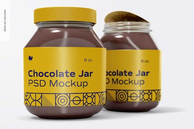 초콜릿 스프레드 항아리 모형, 왼쪽보기