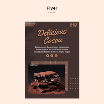 Chocolate store flyer template