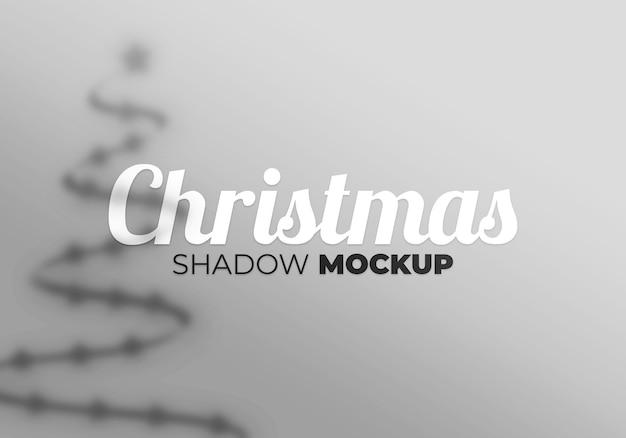 Рождественский теневой макет фона со звездой и деревом