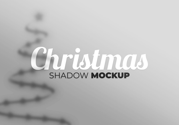 Christams shadow mockup background with star and tree