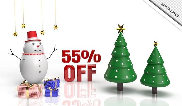 Рождественские 3d визуализации продажи баннера 55 от