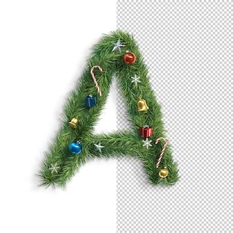 Рождественский алфавит буква a