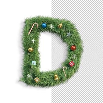 Рождественский алфавит буква d