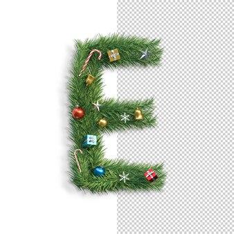 Рождественский алфавит буква e