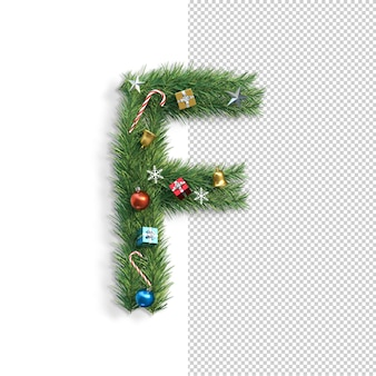 Рождественский алфавит буква f