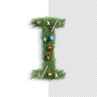 Рождественский алфавит письмо i
