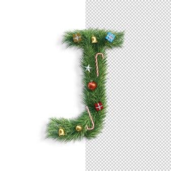 Рождественский алфавит буква j