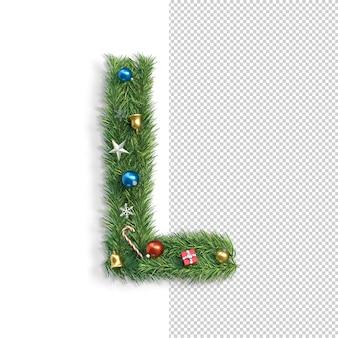 Рождественский алфавит буква l