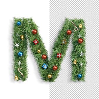 Рождественский алфавит буква m