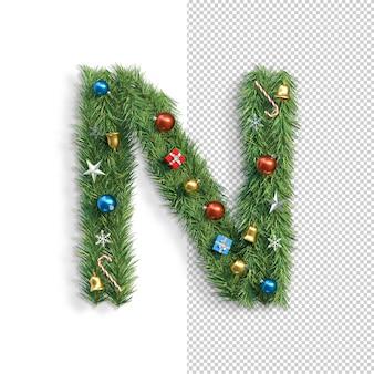 Рождественский алфавит буква n