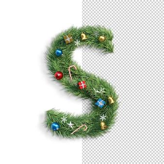 Рождественский алфавит буква s
