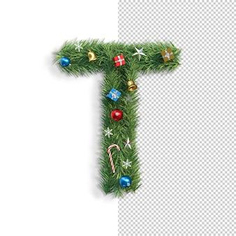 Рождественский алфавит буква t