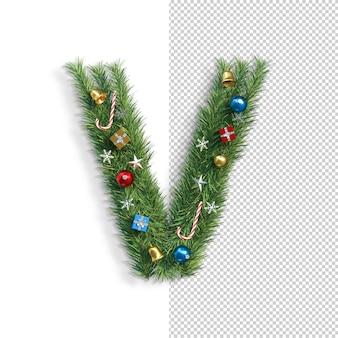 Рождественский алфавит письмо v