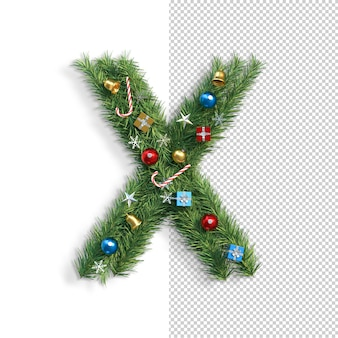 Рождественский алфавит буква x