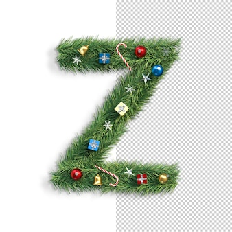 Рождественский алфавит буква z
