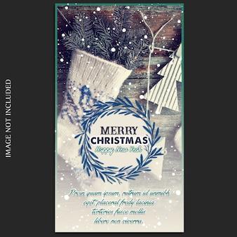 Рождества и счастливого нового года 2019 фотомодель и instagram story template