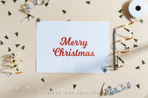 Christmas background with mockup