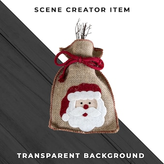 Christmas bag isolated with clipping path.