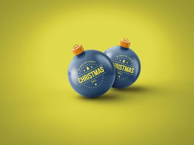 分離されたクリスマスボールモックアップ
