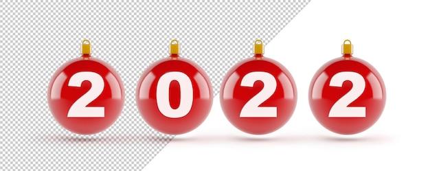 2022年の新年のクリスマスボールのモックアップ