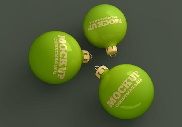 クリスマスボールのモックアップ