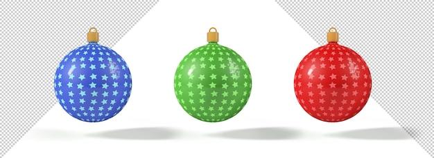 Елочные шары со звездами, макет