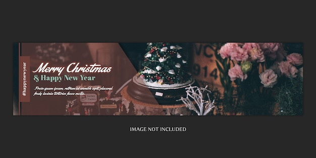 Christmas banner or cover template