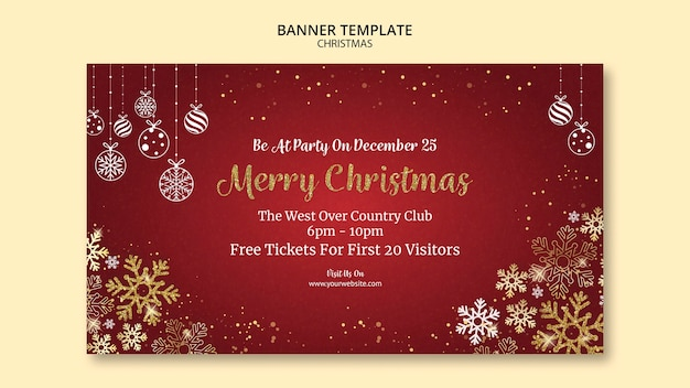 Christmas banner template design