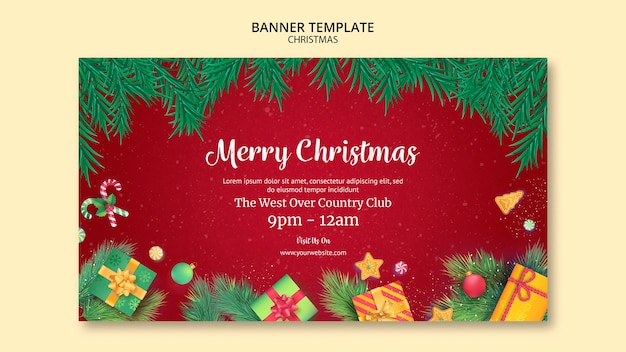 Christmas banner template style