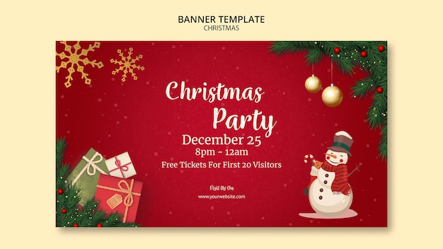 Рождественский баннер шаблон