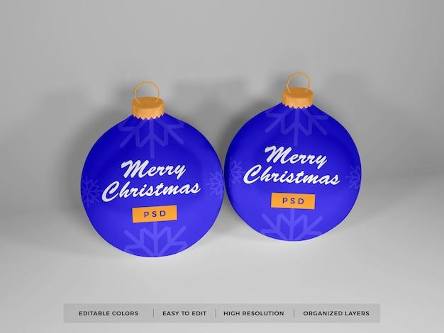 Christmas bauble ball mockup isolated