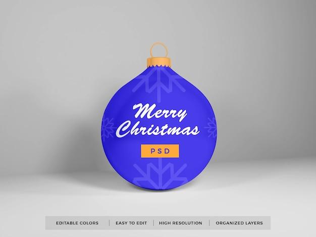 クリスマス安物の宝石のボールのモックアップが分離されました
