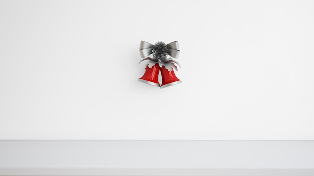 Christmas bells with decorative ribbon