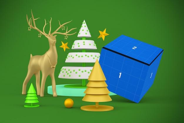 크리스마스 상자 모형