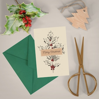 Concetto di cartolina di natale mock-up