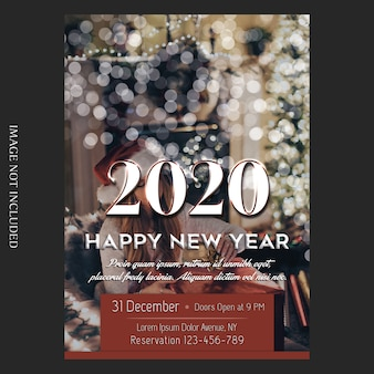 Christmas card or flyer template